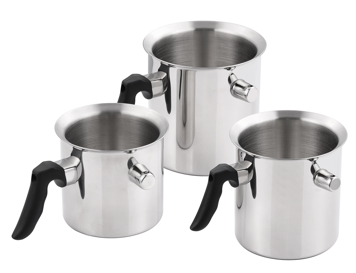 stainless steel cooking milk boiling pot with nylon handle