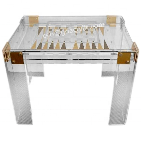 Backgammon Luxe Acrylique Tafel De Backgammon Oem <span class=keywords><strong>Schaken</strong></span> En Backgammon Tafel