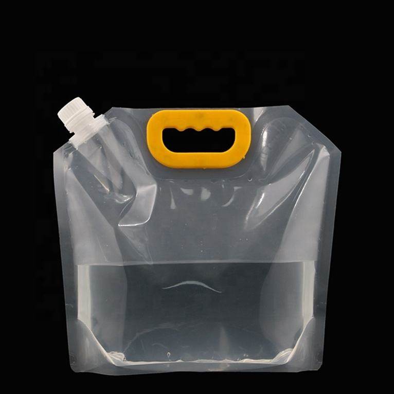 Stand Up Pouch With Spout Filling Machine Foldable Drinking Water Bag