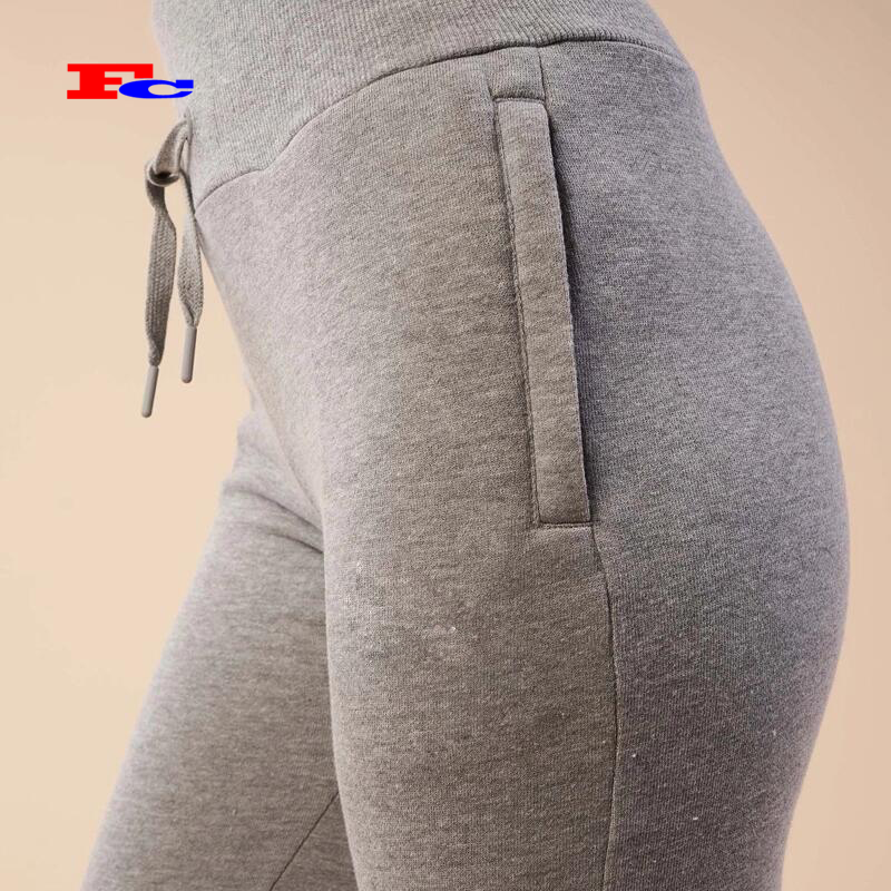 Custom Womens Workout Joggers French Terry Breathable Women Sweatpants