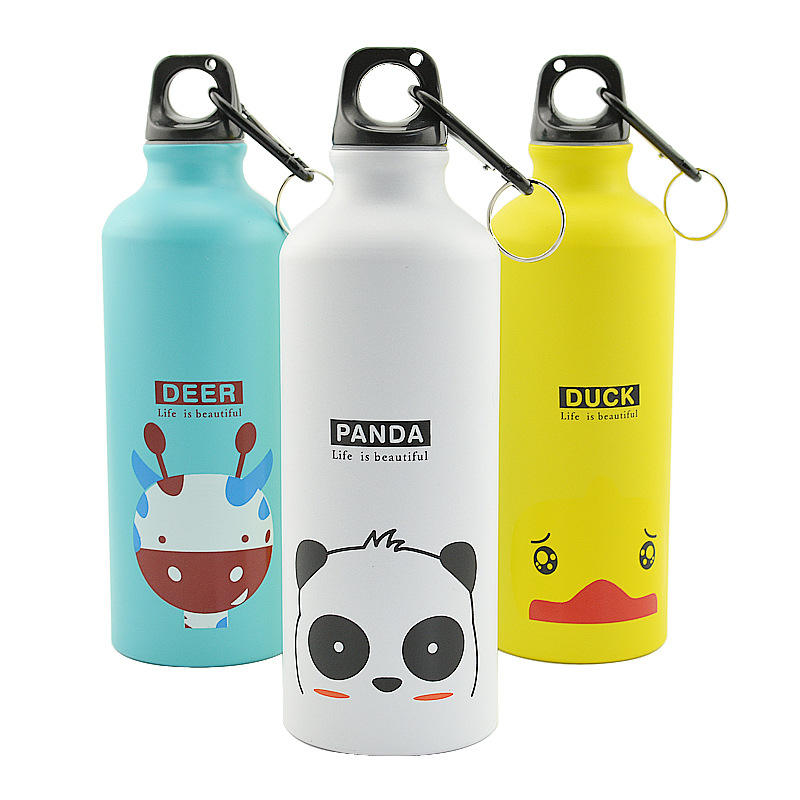 500ml kids aluminium cute drinking bottle, bottle water drinking
