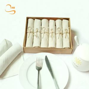 New Arrival 100% Pure Linen Classic Square Dinner Cloth Napkins Popular Linen Napkins Natural