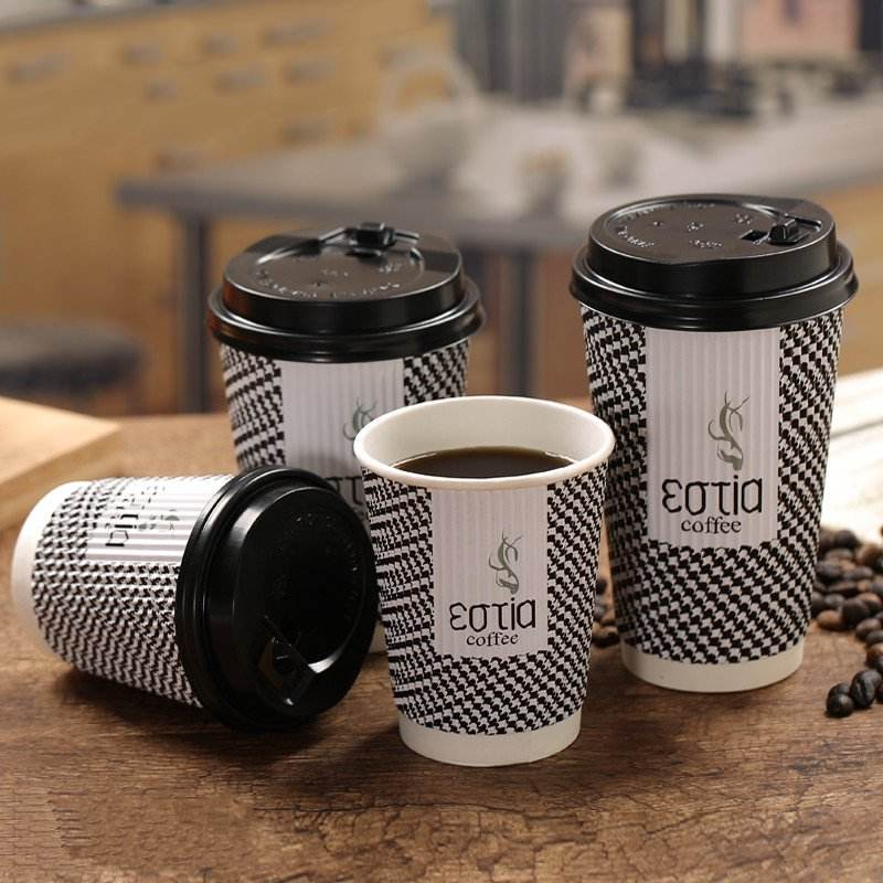 Glossy Lamination [ Coffee Paper Cups ] Coffee Printed Coffee Cups MyMoonPie Custom Printing Wholesale Takeaway White Coffee Deiposable Paper Cups Reusable