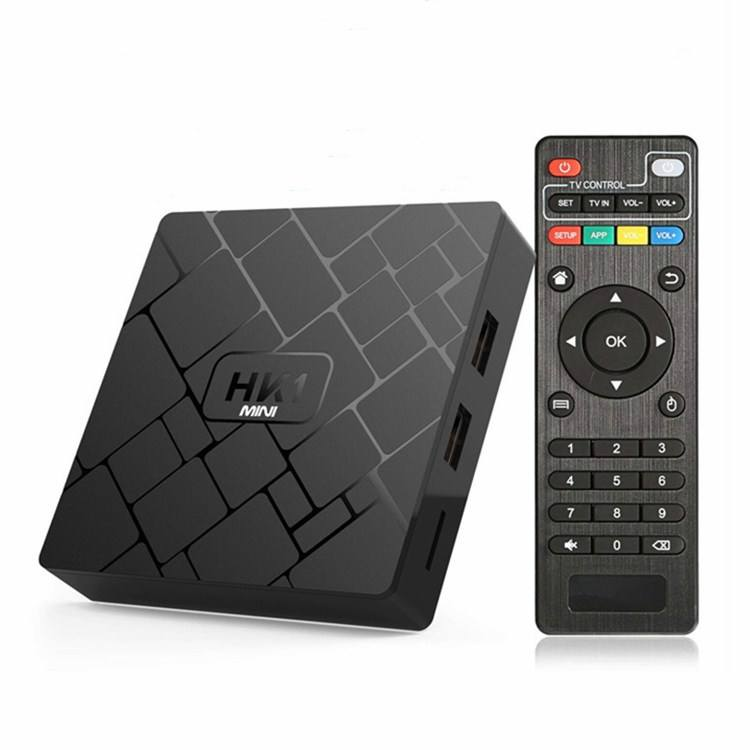 Manufacturer Supplier HK1mini Rk3229 Android 8.1 <span class=keywords><strong>TV</strong></span> Box 4k Quad Core Set Top Box