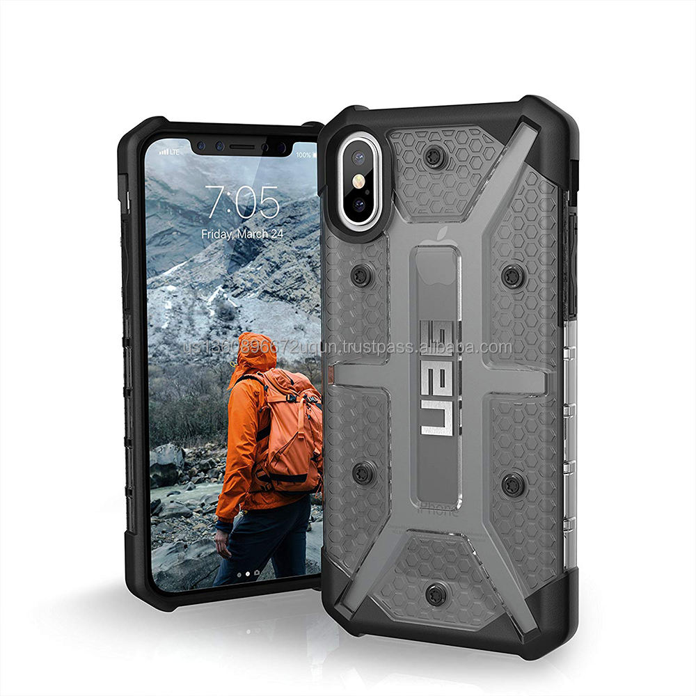 Urban Armor Gear UAG Ponsel Case untuk iPhone X/X Plasma Feather-Light Kasar [Abu] Militer DROP Diuji Case
