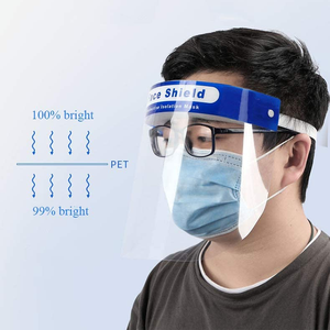 FDA Anti Spatter Antisplash Medical Disposable Transparent Protection Guard Protective Plastic Full Face Shield Mask
