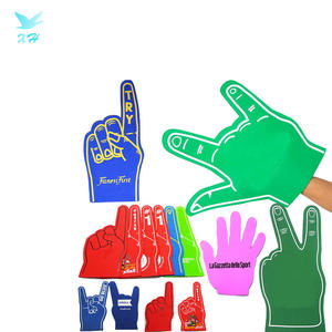 Custom Printed EVA Foam Finger Hand Glove Peace Sign Finger