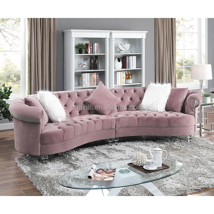 New design fabric sofas home couch living room sofa furniture arm with Acrylic decor