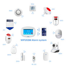 Kerui SMART ALARM SYSTEM k52 SUPPORT SMOKE SENSOR DOOR SENSOR MOTION SENSOR