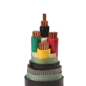 0.6/1kv Multi core copper conductor XLPE insulated steel wire armored PVC sheathed n2xry power cable