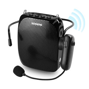 Rechargeable UHF Wireless Voice Amplifier with Portable UHF Wireless Headset Microphone