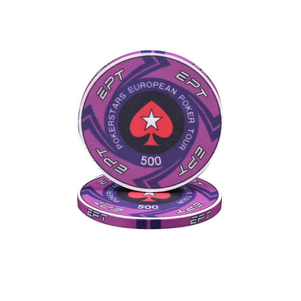 Dropshipping Poker Chips Clay Casino paraları 14g Texas Hold'em bakara kart koruyucu