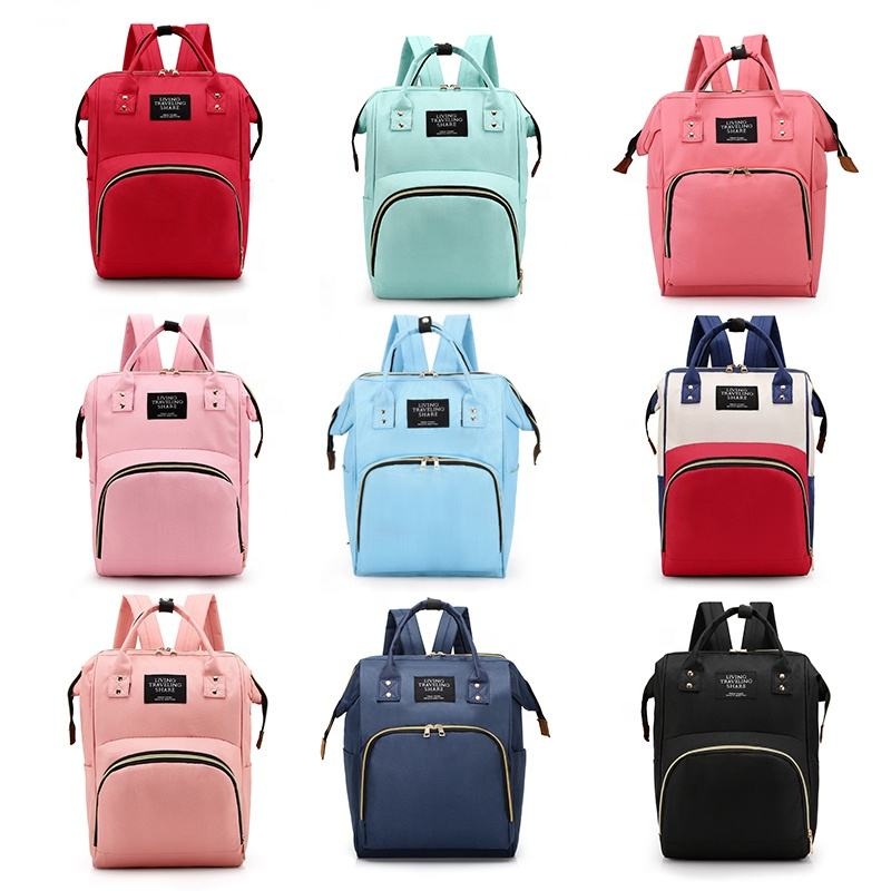 2019 OEM custom multifunctional designers polyester mother baby backpack tote diaper bag