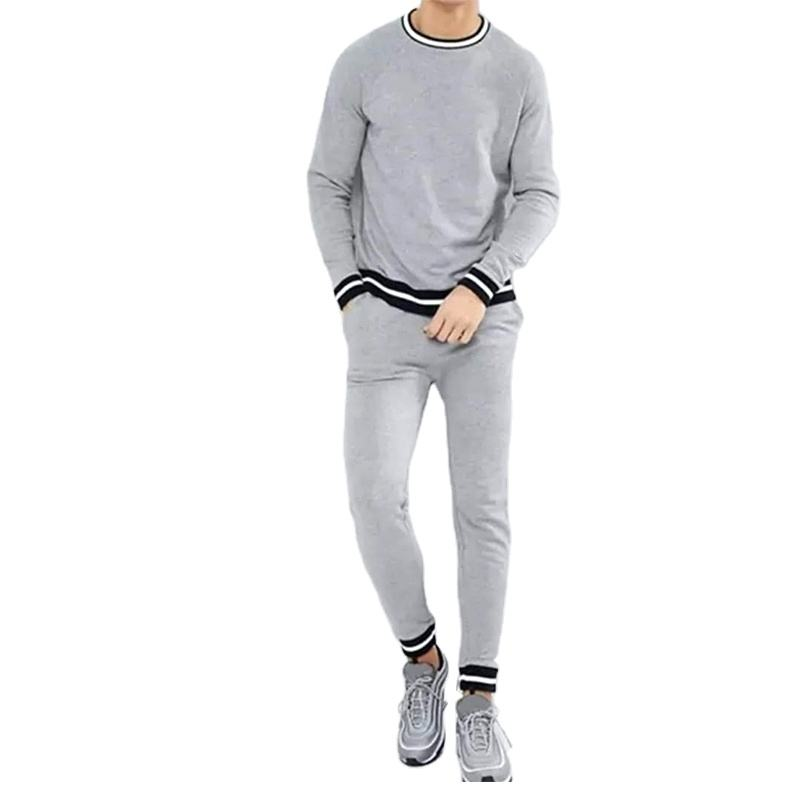 Gray Color Home Wear Streetwear Tracksuit for Men