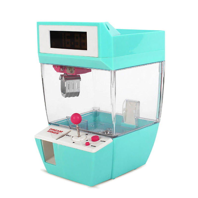 Catcher Wekker Muntautomaat Game Machine Kraan Machine Candy Pop Grabber Klauw Arcade Machine Automatische <span class=keywords><strong>Speelgoed</strong></span> Kids Kinderen