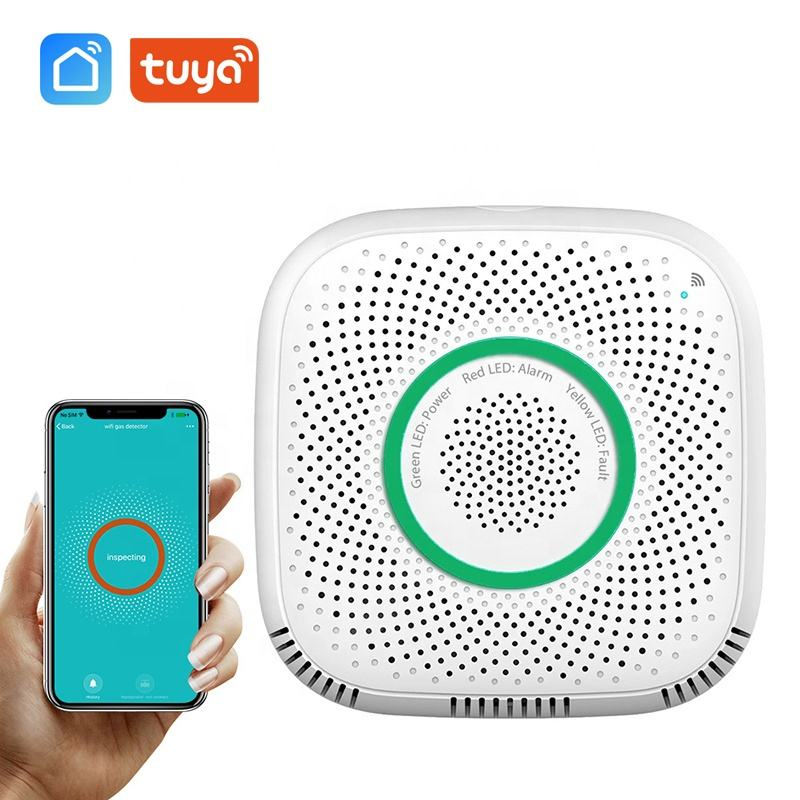 Smart Wifi Gas Sensor Leak Detector Smart Home Security Voice Alarm Tuya Smart Life App Wireless Remote Control