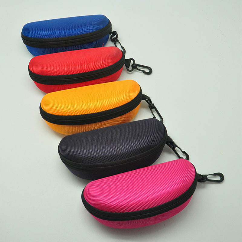 manufacture pu leather custom sunglass case with handle