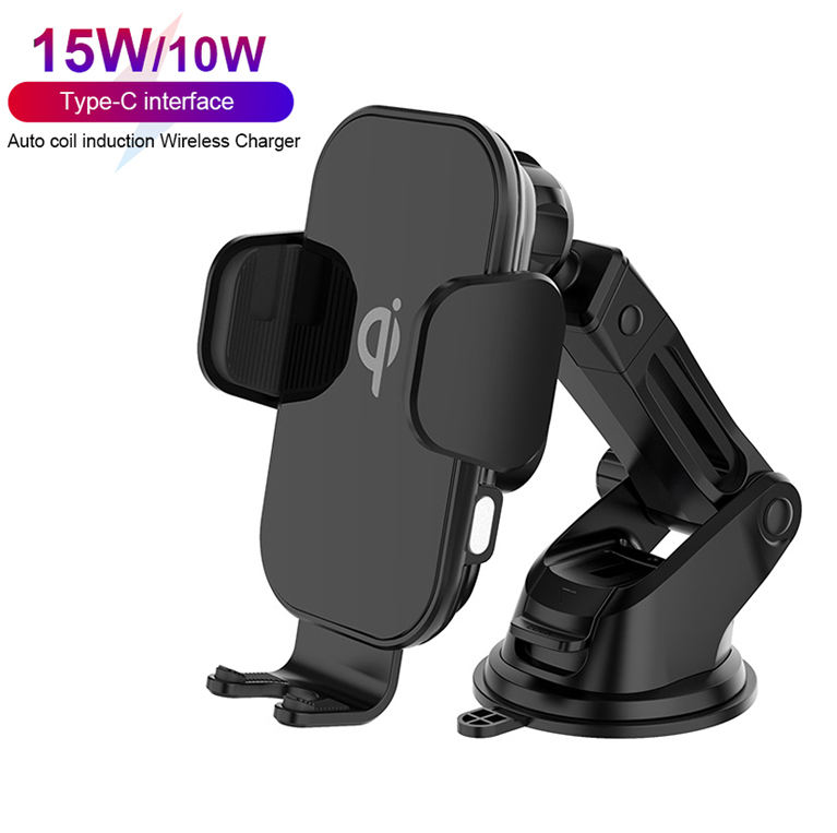New Design 15W Fast Charging Auto Clamping Wireless Phone Car Charger Air Vent Mount Car Holder
