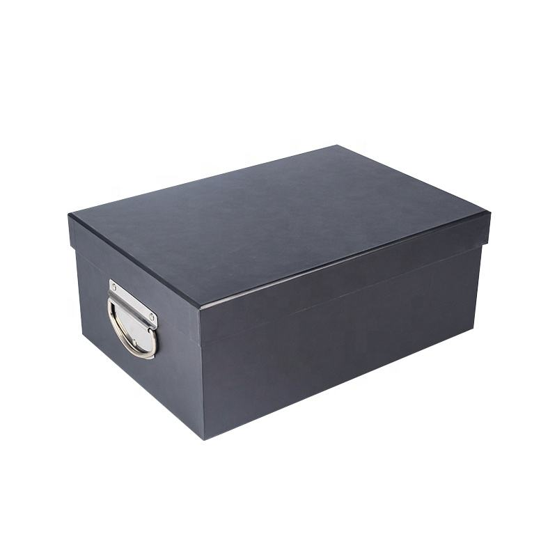Paper Cardboard Archive Boxes File Storage Carton Box With Handle