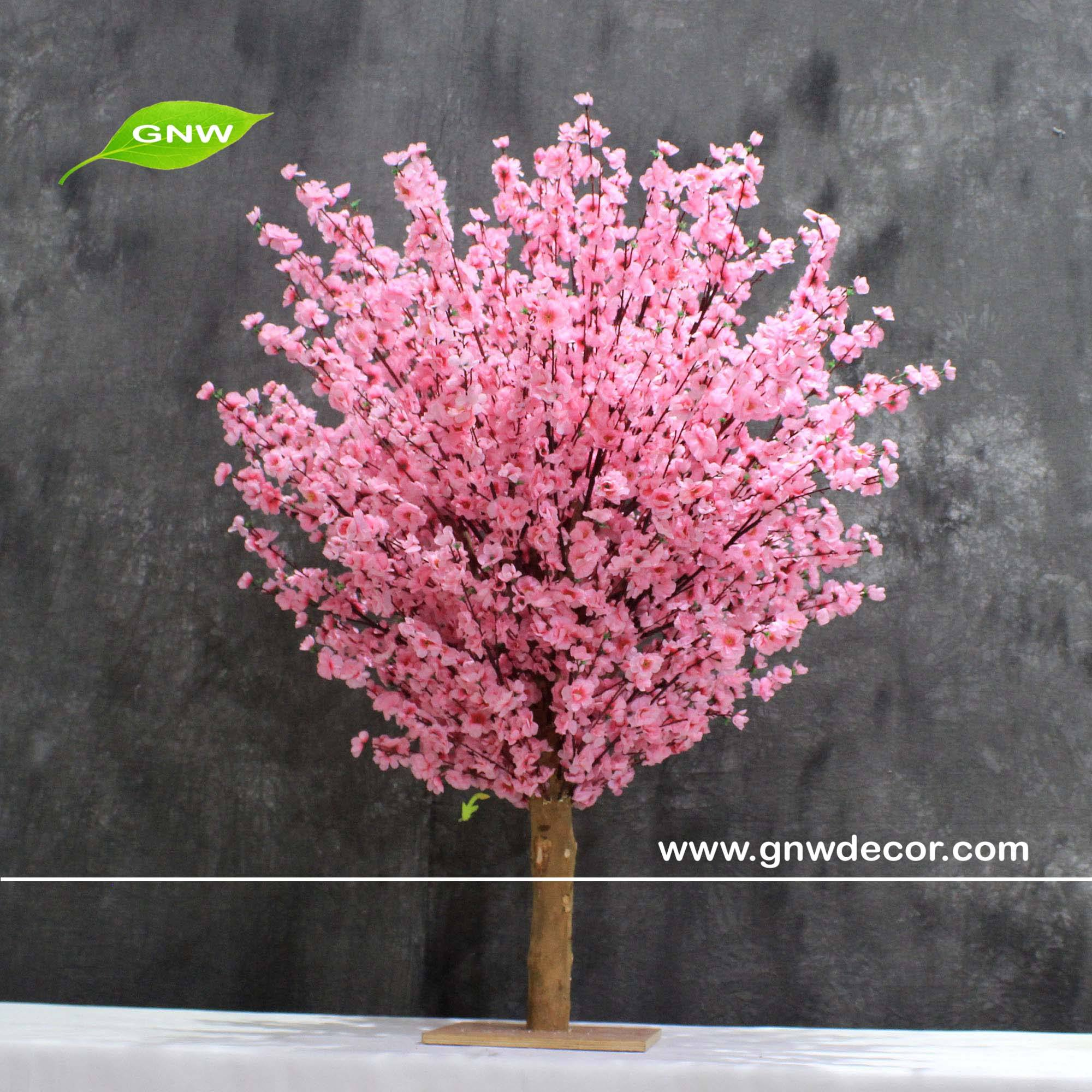 GNW BLS1503002 Fake peach blossom tree for wedding stage decoration