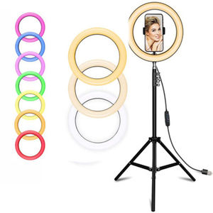18 inch Voice Control RGB LED Ring Fill Light with Stand Selfie for YouTube TikTok Video Neewer Ring Light 18