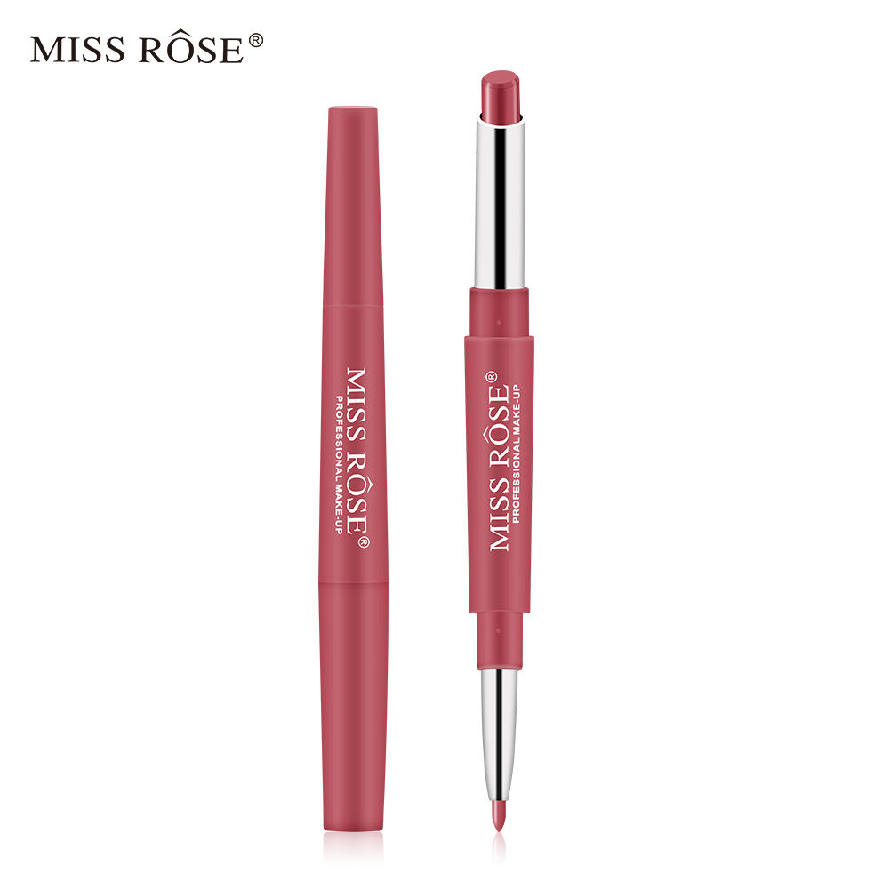 Miss Rose Multifunktion aler High Pigment Double Ended Lippenstift Pen Lip Liner für Erwachsene Kinder Wasserdichter Bleistift