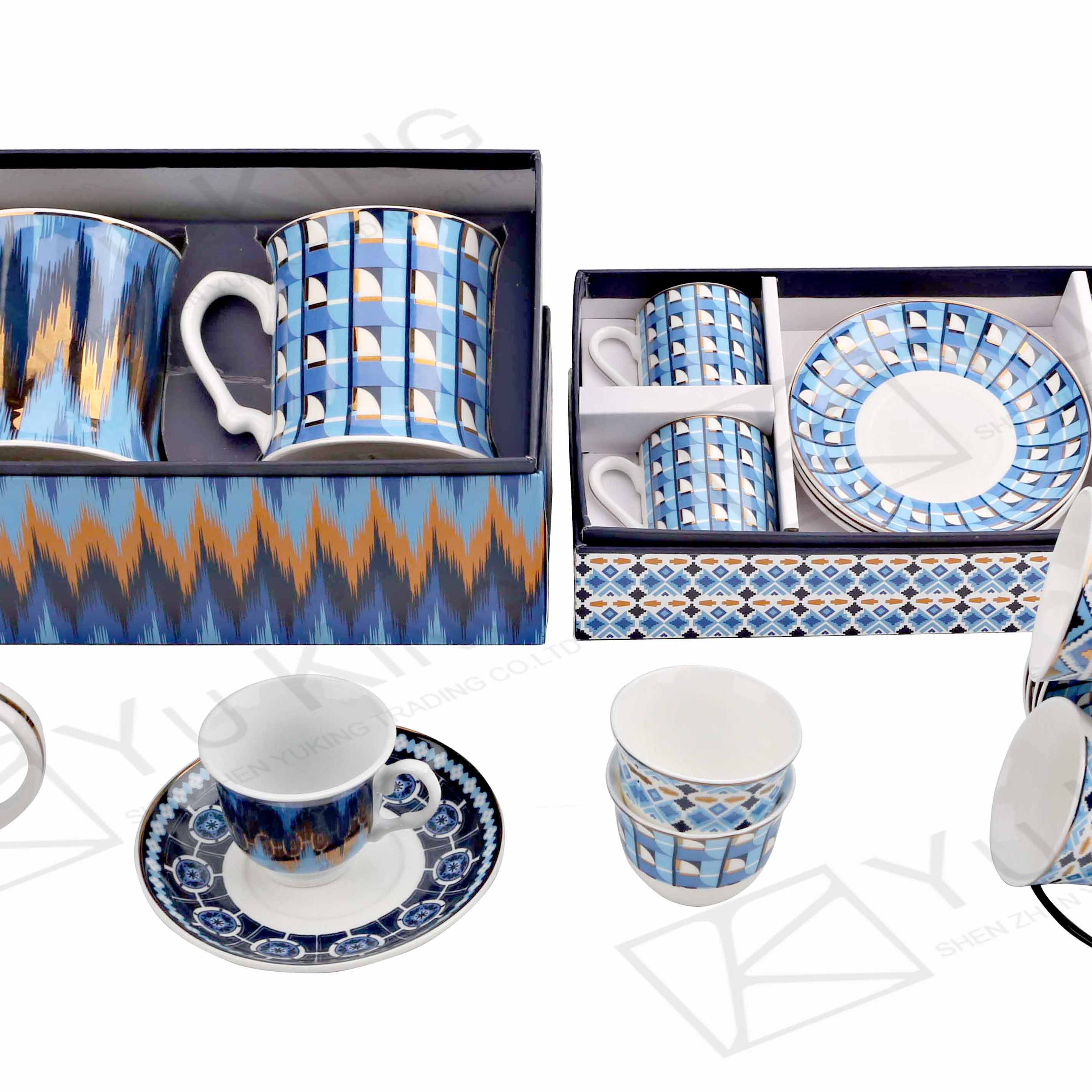 China 2019 hot new products arabic ceramic ethiopian coffee cup set
