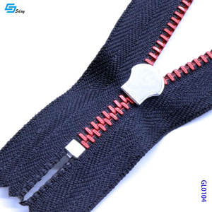 Teeth Zipper Roll Half Circle Metal Zipper