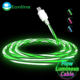 Eonline LED Glowing Micro Usb Type C Cable Cabo Usb Tipo C Type Fast Charging Cable for Samsung Galaxy S8 S9 S10 HTC LG Phone