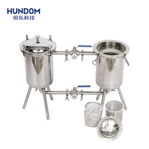 Kualitas Tinggi Sanitary Stainless Steel Susu Double Barel Housing Filter Mesin