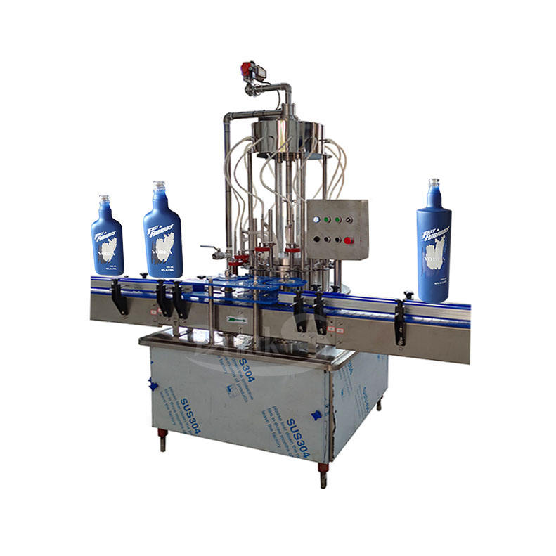 Automatic 12 Heads 200ml 375ml 750ml Glass Bottle Vodka Whisky Wine Filling Bottling Machine