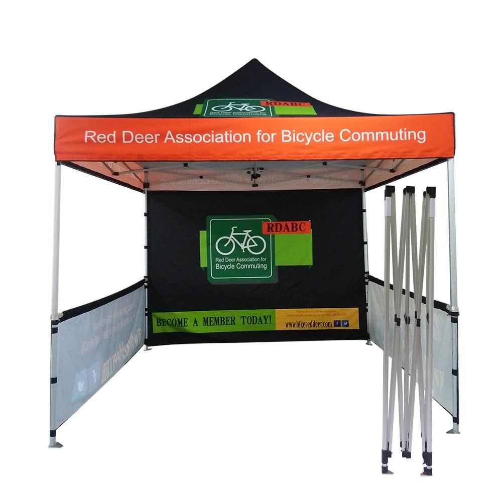 3x3m Custom Pop up Tent & 1 Wall | Nimlok Portable