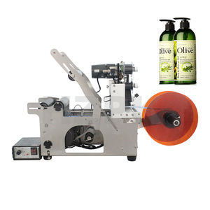 HZPK semi automatic manual printing sticker labeling vial labeling machine price for tube round bottles with coding