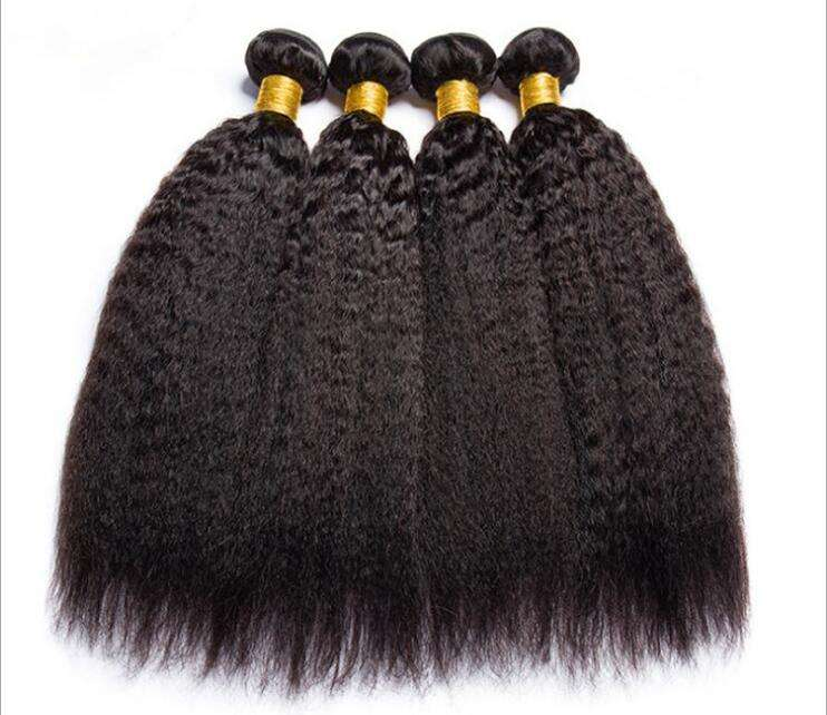 Factory price wholesale remy hair 100% raw virgin indian hair extensions for black woman human hair kinky straight wig