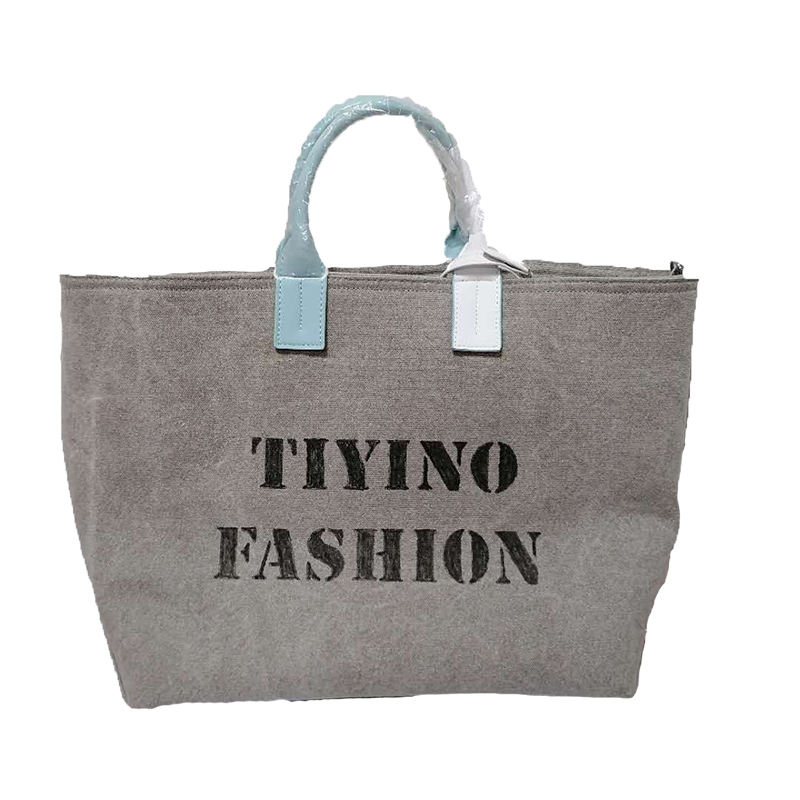 2021 net celebrity fashion tide brand pure graffiti one-shoulder portable canvas bag business large-capacity bag