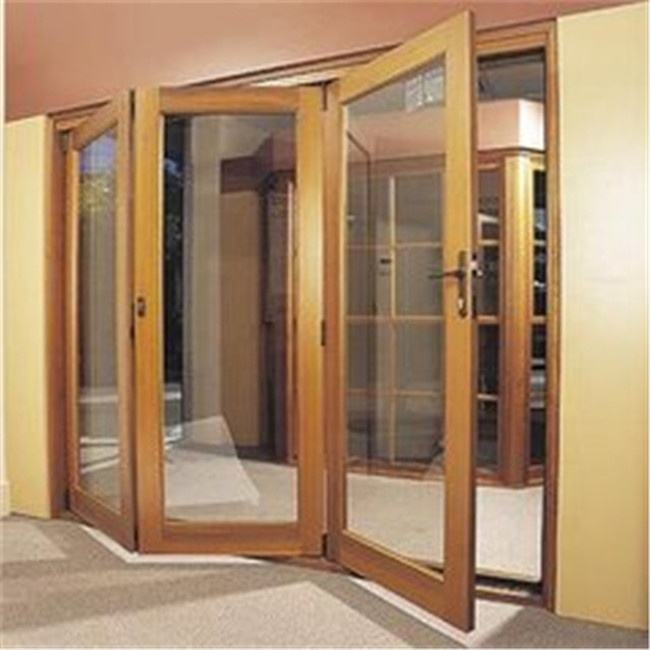 Entry Glass Door Modern Entry Exterior Glass Aluminum Folding Door Panel System Price