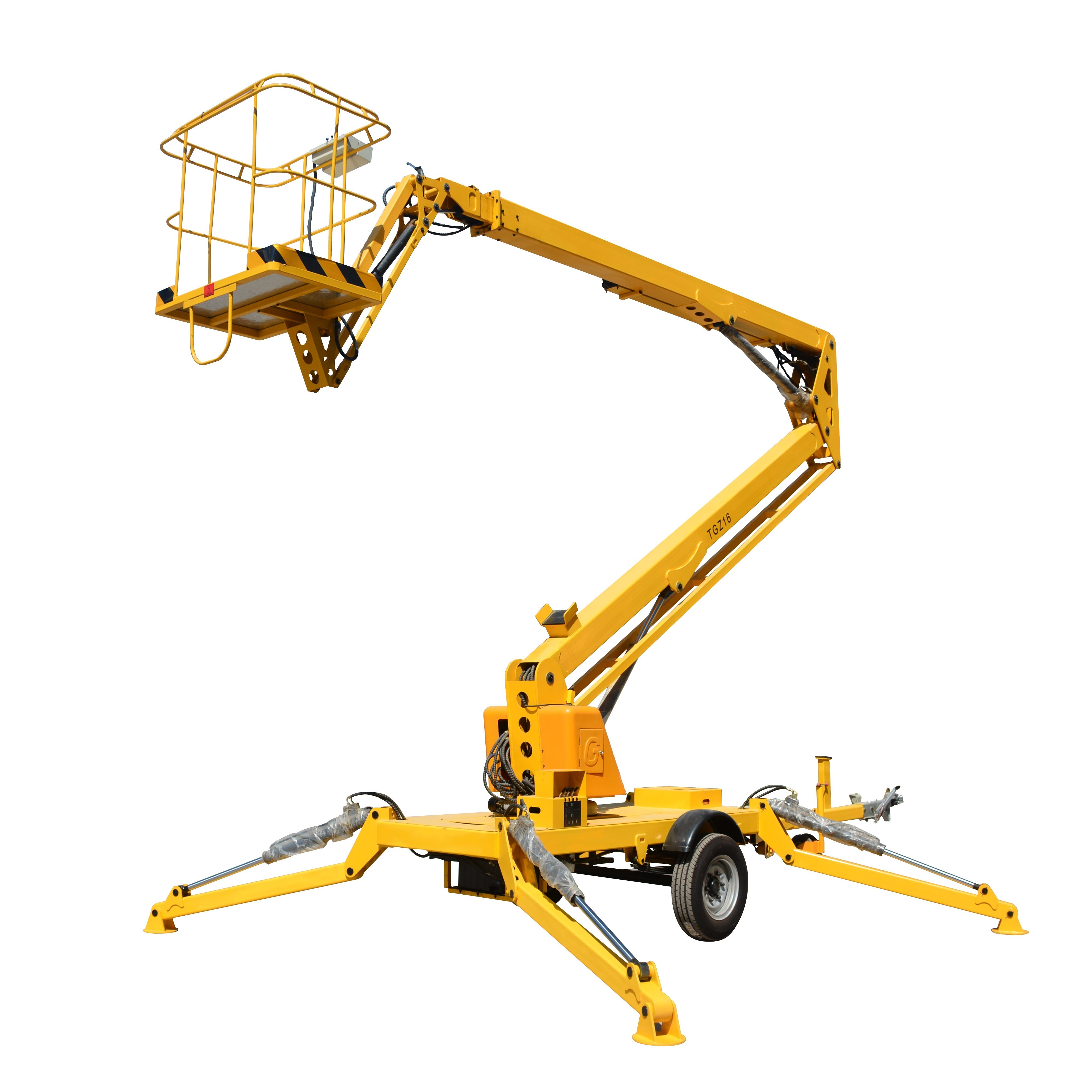 8-20m Reach Diesel Trailer Articulating Towable Boom Lifts aerial working platform
