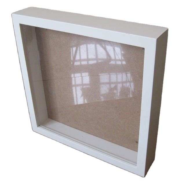 Bulk Free Standing Cheap Wholesale 3D Wooden Shadow Box Picture Frame with Custom Size and Color