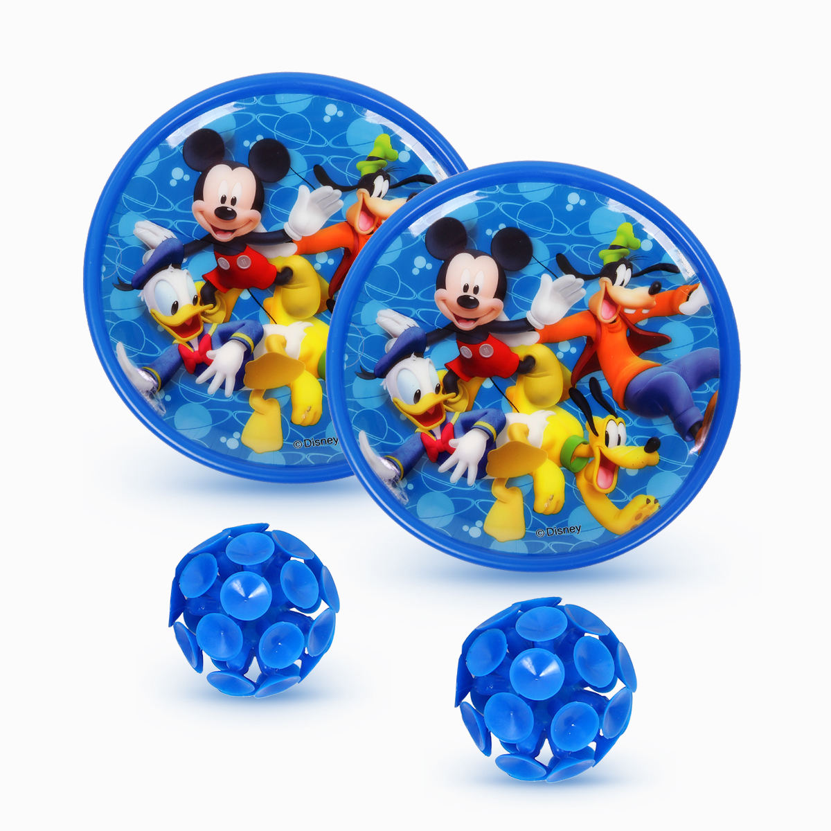 New Arrival Disney Kids Playing Catch Ball Game Flashing Catch Ball Set Mickey Mouse