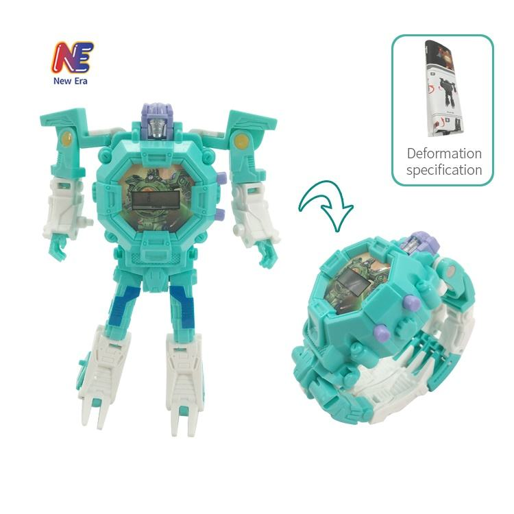 Plastic Deformation Toy Electric Transform Robot Watch Toys