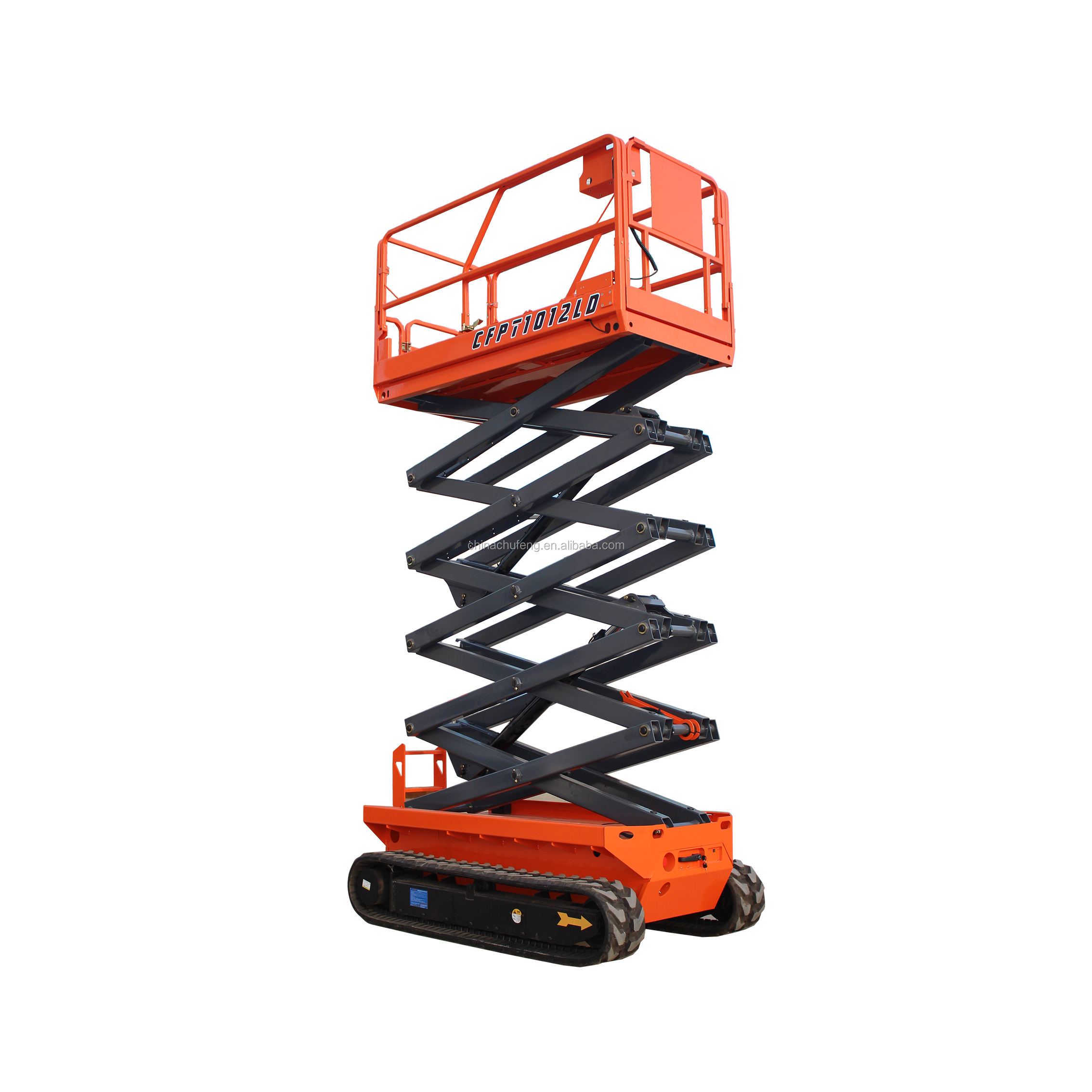 EN280 approved 6-14m battery charger self propelled automatic hydraulic electric small mini scissor lift table with low cost