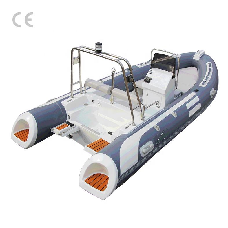 CE approval 16ft 4.80m hypalon material fiberglass hull inflatable fishing cabin 480 rib boat for sale