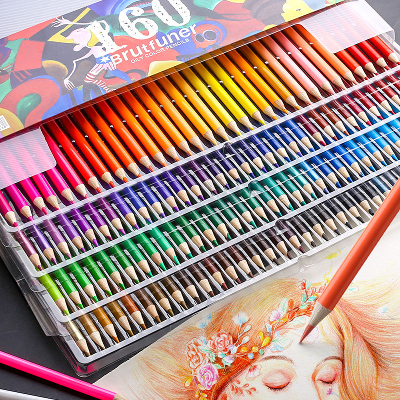 Custom color pencil for kid 4 colors in one 12 color pencil pre-sharpen