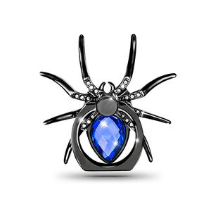 Universal Luxury Diamond Metal Spider Cell Phone Finger Ring Holder 360 Rotation Mobile Phone Stand
