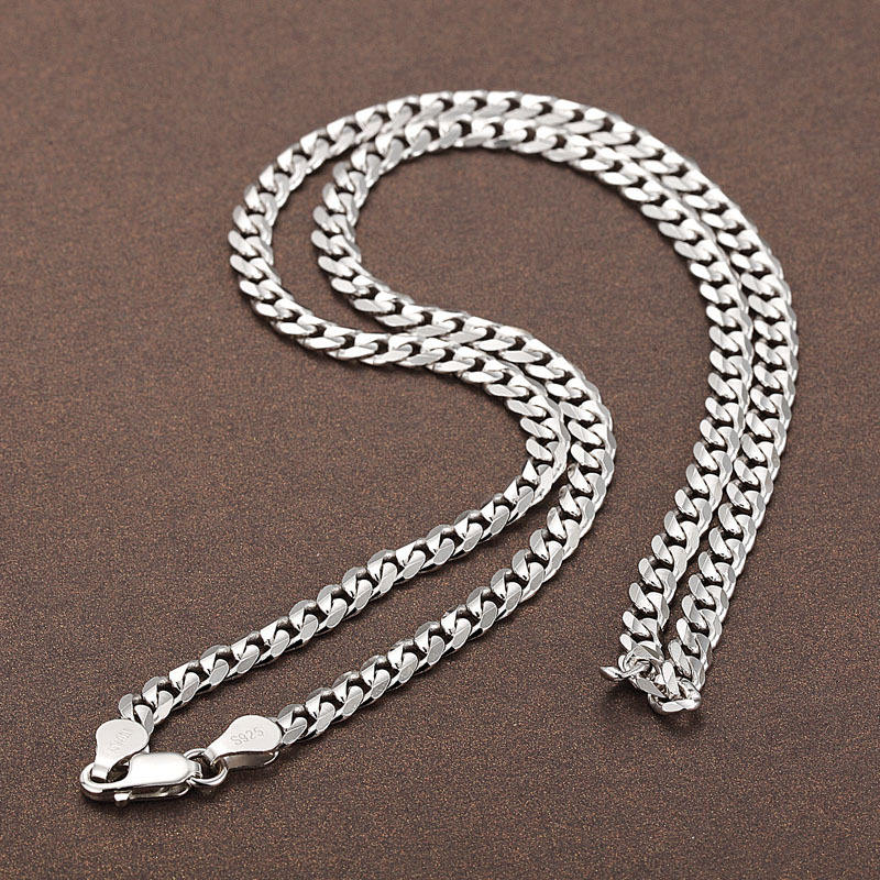 Silver 925 Fashion 2020 Jewelry Silver Necklace Men Cuban Chain Italy Man Chain Necklace