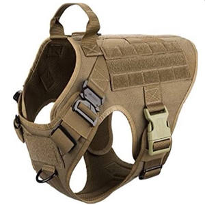 Wholesale Outdoor Adjustable No Pull Military Tactical Heavy Duty Weighted Pet training Dog Harness