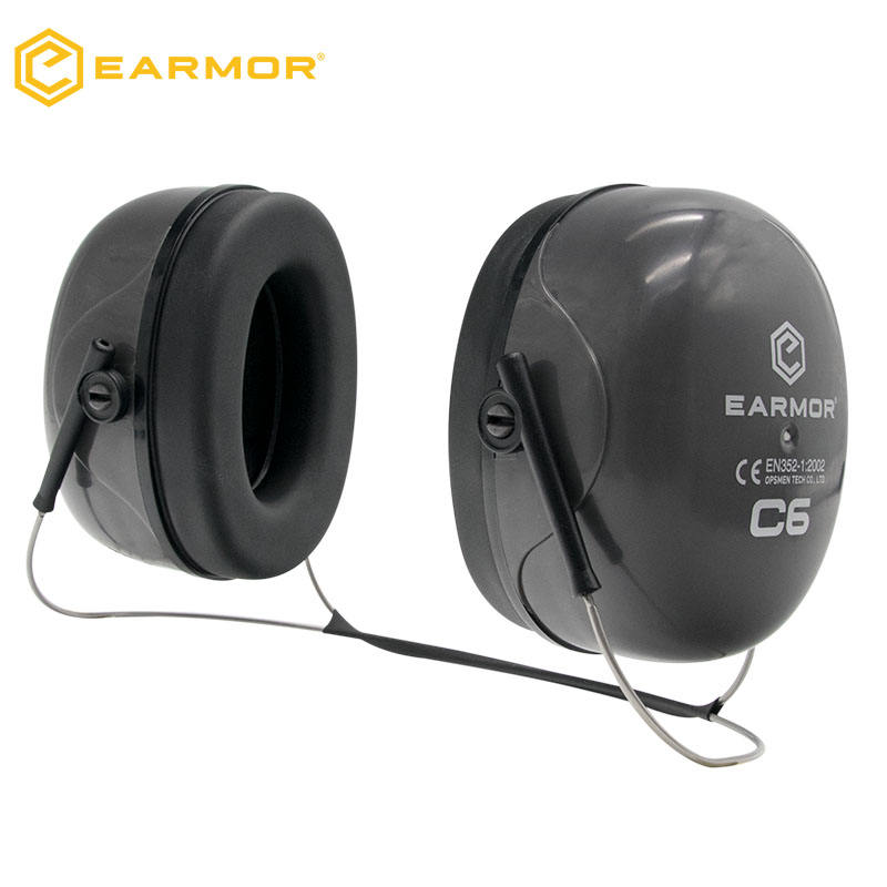EARMOR C6N Neckbanded Earmuff Production Ear Muffs For Workplace Safety