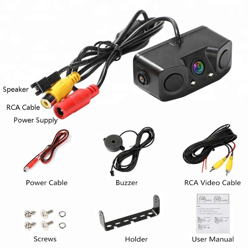 2020 Hot Sell Car 2 Sensors 1 Camera Parking System can connect with any Monitors