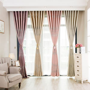 Hot Selling Cheap Elegant Luxury China Living Room Bedroom Hotel Curtains Drapes Fabric Blackout Jacquard Window Curtain