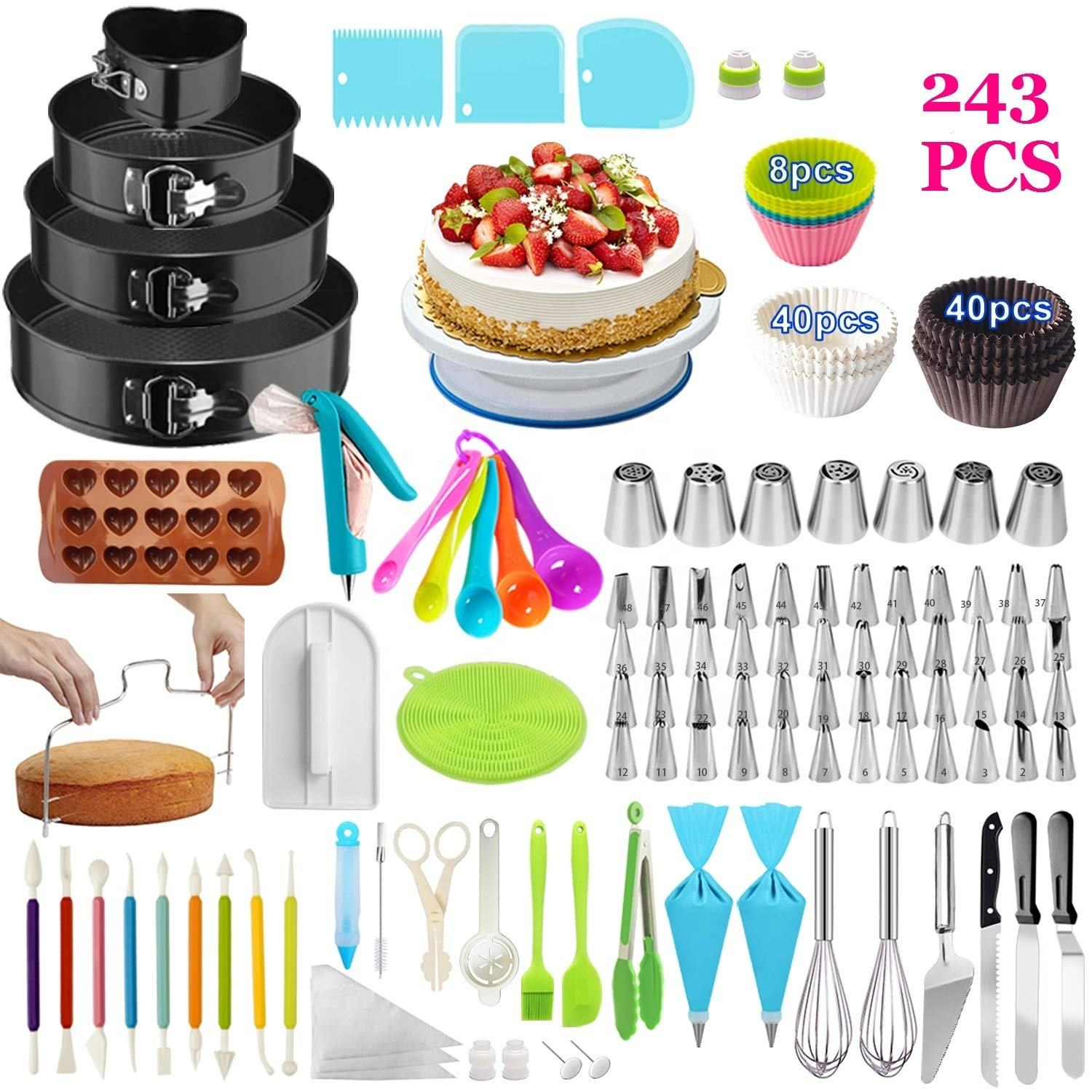 Hot Sale On Amazon Cake Decorating tools Cake Decorating Supplies Cake rotating turntable Supplies